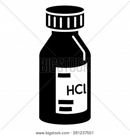 Hcl Solution Icon. Simple Illustration Of Hcl Solution Icon For Web Design Isolated On White Backgro