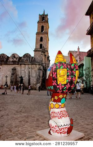Havana, Cuba - November 26, 2015: Xico Sculptures On San Francisco De Asis Square In Havana, Cuba. T