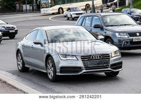 Moscow, Russia - June 3, 2012: Motor Car Audi A7 In The City Street.