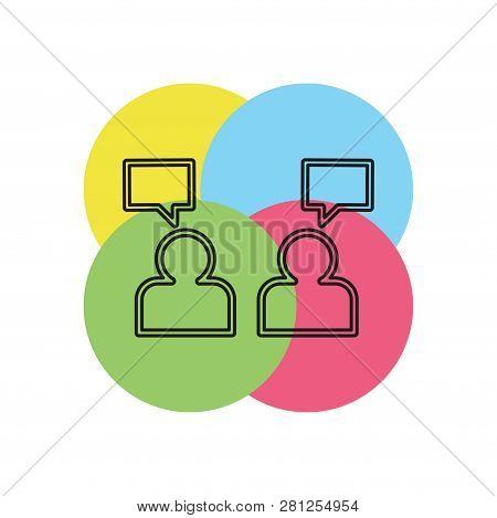 People Management Concept Line Icon. Simple Element Illustration. People Management Concept Outline