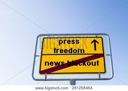 Sign Press Freedom Instead Of News Blackout