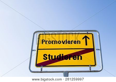 Sign To Do A Doctorate After Studying German