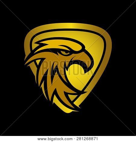 Golden Luxury Eagle Icon, Eagle Design Vector, Eagle Logo Icon Picture, Eagle Icon Vector, Eagle Fal