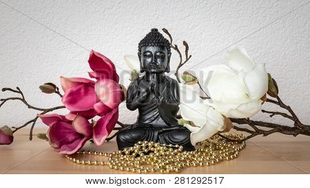 An image of a buddha statue sign for peace and wisdom