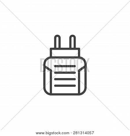 Anti Mosquito Fumigator Line Icon. Linear Style Sign For Mobile Concept And Web Design. Insect Elect