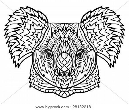 Totem Coloring Page Vector & Photo (Free Trial) | Bigstock
