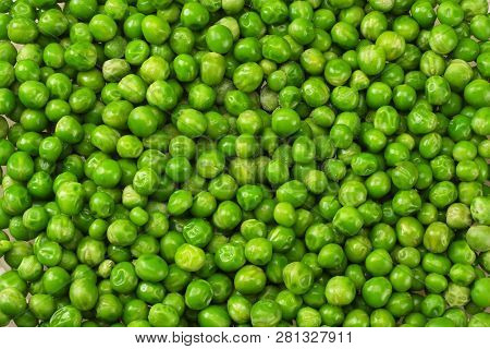Green Peas Background. Green Peas Texture. Top View