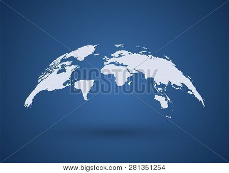 Gray Globe Earth Map. World Map. Wold Map Vector