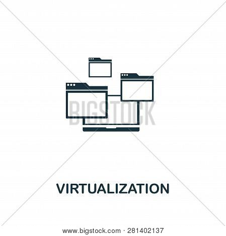 Virtualization Icon. Premium Style Design From Web Hosting Icon Collection. Pixel Perfect Virtualiza