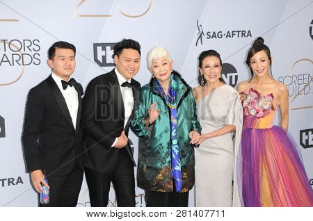 LOS ANGELES - JAN 27:  Jon M. Chu, Ronny Chieng, Lisa Lu, Tan Kheng Hua, Fiona Xie at the 25th Annual Screen Actors Guild Awards at the Shrine Auditorium on January 27, 2019 in Los Angeles, CA