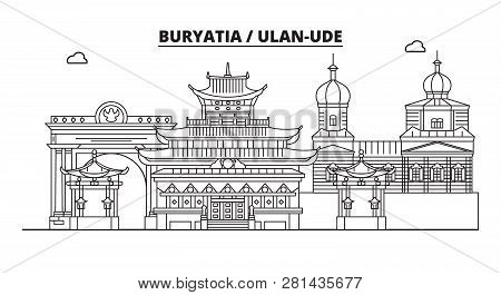 Russia, Buryatia, Ulan-ude. City Skyline: Architecture, Buildings, Streets, Silhouette, Landscape, P