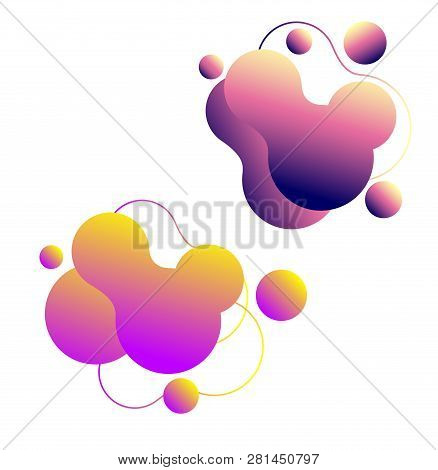Set Modern Liquid Vector & Photo (Free Trial) | Bigstock