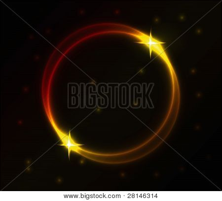 Vector Colorful Glowing Circle Vector Background.