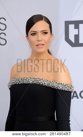 Mandy Moore at the 25th Annual Screen Actors Guild Awards held at the Shrine Auditorium in Los Angeles, USA on January 27, 2019.