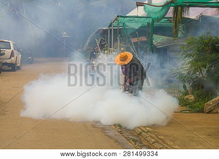 Environmental health fogging to eliminate mosquito for preventing spread dengue fever and zika virus  in east asia poster
