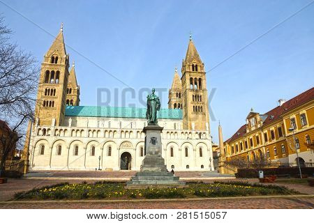 St Peter and St Paul Baisilica, Pecs, Hungary. poster