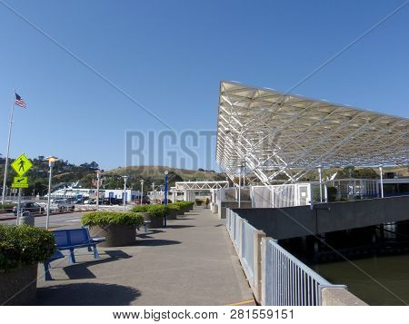 Larkspur, California - May 17, 2009:  Larkspur Landing, Also Known As Larkspur Ferry Terminal, Is Th