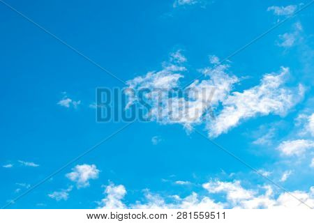 Clear sky with sun and sunrays. Daytime and good weather poster