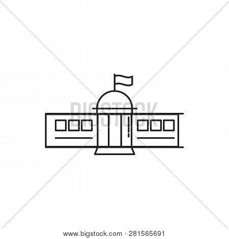 Administration Building Vector Icon On White Background. Administration Building Icon In Modern Desi