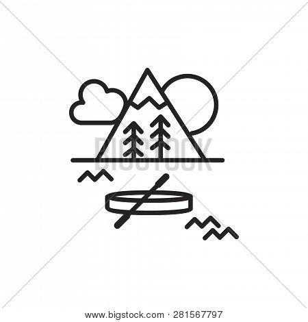 Landscape Vector Icon On White Background. Landscape Icon In Modern Design Style. Landscape Vector I