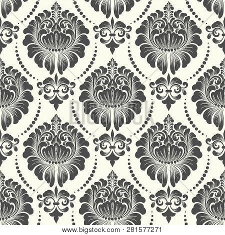 Vector Damask Seamless Pattern Background. Classical Luxury Old Fashioned Damask Ornament, Royal Vic