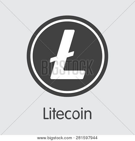 Ltc - Litecoin. The Logo Of Money Or Market Emblem.