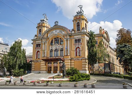 Cluj Napoca, Romania - July 31, 2018: The Opera House Of Cluj Napoca, Romania