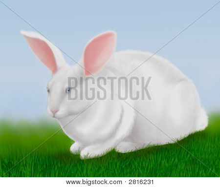 Big White Easter Rabbit