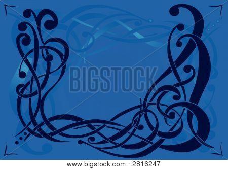 Pattern Based On Interwoven Scrolls