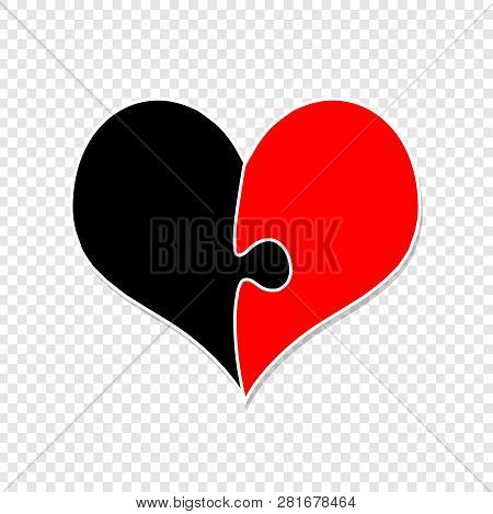 Red Black Heart Made Vector Photo Free Trial Bigstock