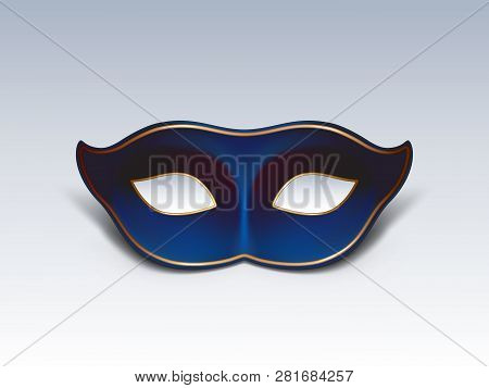Colombina Face Mask 3d Realistic Vector Icon. Traditional Venetian Or Mardi Gras Carnivals, Holiday