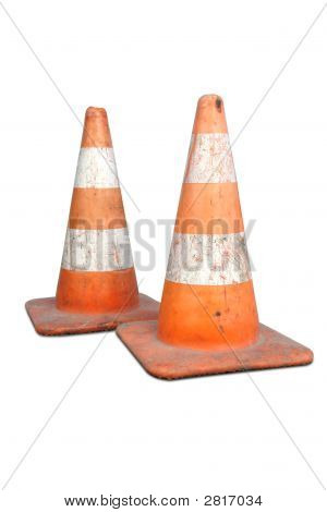 Two Road Cones