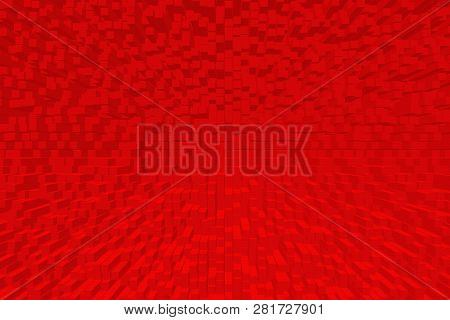 Abstract Simple Red Geometric Background. Red Pattern. Red Geometric Texture.