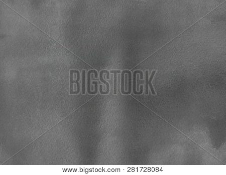 Abstract Watercolor Hand Painted Background. Grey Watercolour Texture. Grey Watercolor Color Backgro