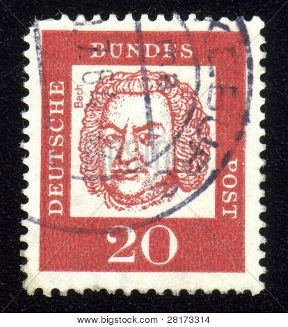 Vintage antique postage stamp from Germany