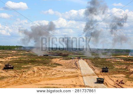 Explosion And Smoke. International Military Training