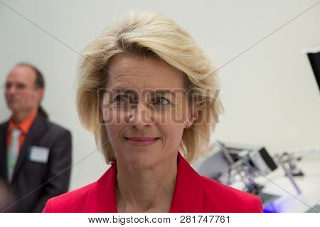 Berlin, Germany - May 21, 2014: Federal Minister Of Defence Of Germany, Ursula Von Der Leyen At The