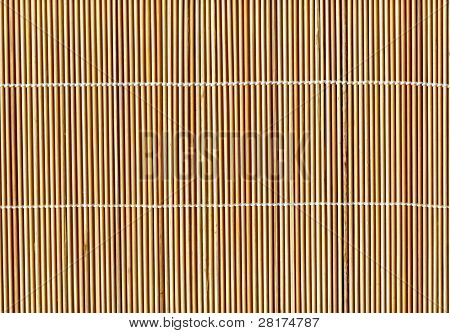 Bamboo stick straw mat texture to background