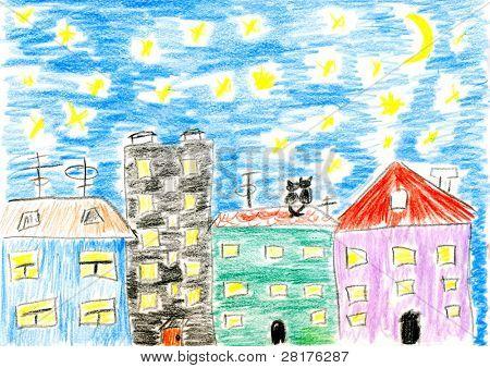 Children's paint march cats love