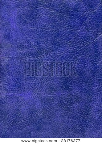 Blue leather texture to background