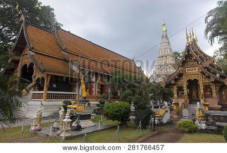 Chiang Mai, Thailand, December 29. Wat Chedi Liam Temple On December 29, 2018, Near Chinag Mai, Thai