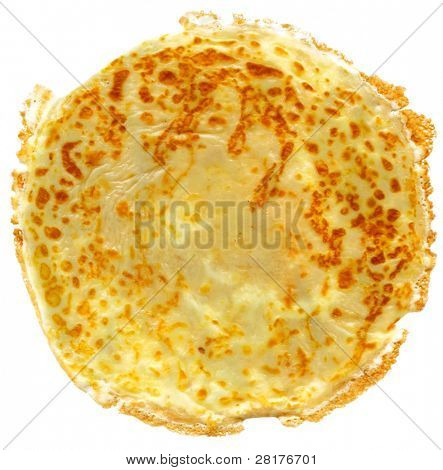 Russian flapjack isolated on white background