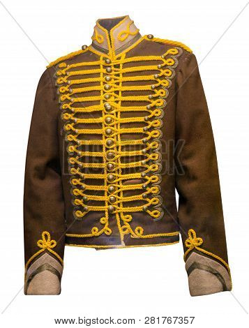 Hussar Uniform Isolated On White Background .old Hussar Uniform