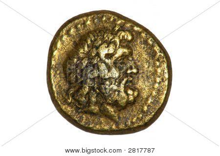 Древней Греции монета Зевса.