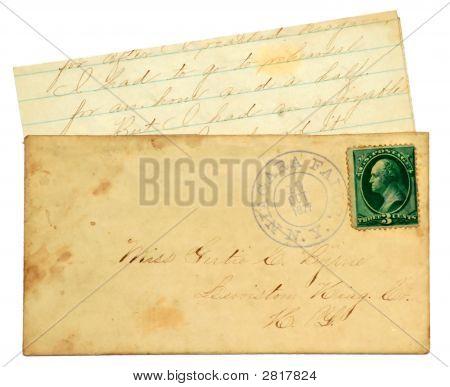 Старые письма и конверт.