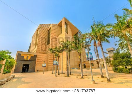 Los Angeles, California, United States - August 9, 2018: Cathedral Of Our Lady Of The Angels In Post