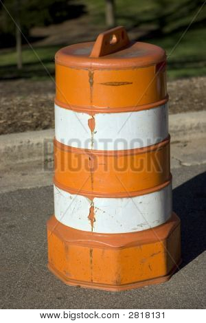 Traffic Barrel Side Profile