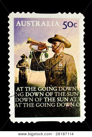 AUSTRALIA - CIRCA 2008: A stamp printed in Australia shows bugler, circa 2008