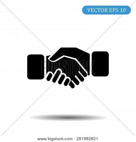 Business Handshake Icon.vector Illustration.eps 10. Background Handshake