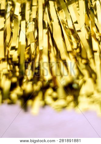 The Golden Color Of Tassel Sports Cheer